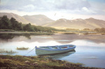 Connemara Lake Boat giclee art print