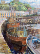 Fishing Boats at Howth Harbour giclee art print