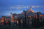 Italy Lake Garda Malcesine at night giclee art print