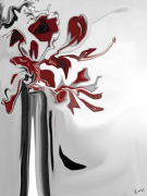 Red Orchid 2 giclee art print