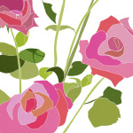 Roses are pink giclee art print