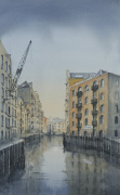 St Saviour's Dock Shad Thames London giclee art print