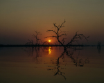 Sunset on Lake Kariba giclee art print