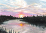 Sunset over Water giclee art print