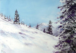 The Ski giclee art print
