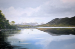 lake in co galway giclee art print