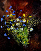 Bunch of wild flowers giclee art print