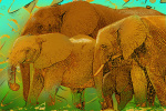 Elephant Family giclee art print
