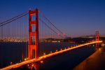 Golden Gate Bridge by Night giclee art print