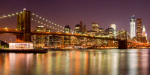 Night Skyline - Brooklyn Bridge giclee art print