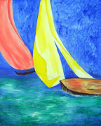 Sailing at Southampton giclee art print