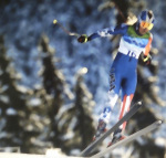 Skier in Flight giclee art print
