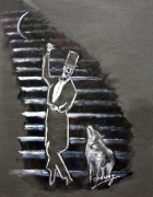 The Gentleman and the Wolf giclee art print