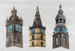 Three Blue Clocks at Glasgow Cross giclee art print