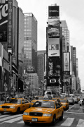 Times Square Yellow Cabs giclee art print