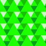 Triangles - green giclee art print