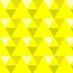 Triangles - yellow giclee art print