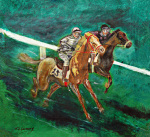 Two Horse Race giclee art print