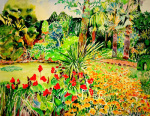 Walk in summer giclee art print