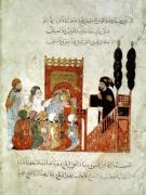 Abou Zayd preaching in the Mosque from 'Al Maqamat' by Al-Hariri giclee art print