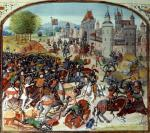Battle of Neville's Cross from the Hundred Years War 1346 giclee art print