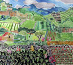 Cabbages and Lilies, Solola Region, Guatemala, 1993 giclee art print