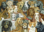 Dog Spread giclee art print