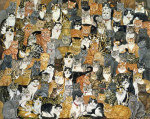 Double Cat-Spread giclee art print