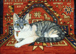 First Carpet-Cat-Patch, 1992 giclee art print