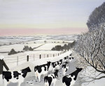 Friesians in Winter giclee art print