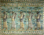 Frieze of archers from the Palace of Darius the Great giclee art print