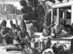 How the Natives of New Spain Prepared Cacao for Chocolate giclee art print