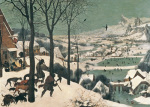 Hunters in the Snow - February, 1565 giclee art print
