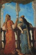 Jewish Women at the Balcony Algiers 1849 giclee art print