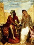 Othello and Desdemona in Venice 1850 giclee art print