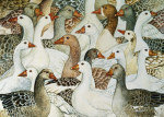 Patchwork Geese giclee art print