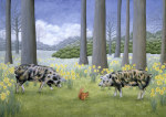 Piggy in the Middle giclee art print