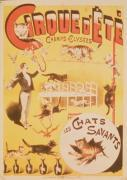 Poster advertising the Cirque d&#39;Ete in the Champs Elysees giclee art print