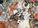 Rabbit-Spread giclee art print