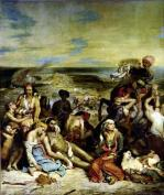 Scenes from the Massacre of Chios 1822 giclee art print