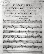 Score sheet for &#39;Concerts de Pieces de Clavecin&#39; giclee art print
