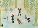 Snowmen giclee art print