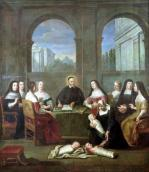 St. Vincent de Paul and the Sisters of Charity c.1729 giclee art print