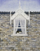 St.Helier Dormer Cat giclee art print