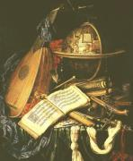 Still Life with Musical Instruments giclee art print