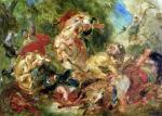 Study for The Lion Hunt 1854 giclee art print