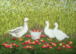 Sweetcorn-Geese giclee art print