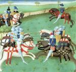 Teaching Knights to Joust from &#39;Roman du Saint Graal&#39; giclee art print