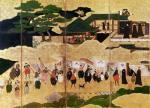 The Arrival of the Portuguese in Japan, Kano School giclee art print