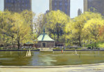 The Boating Lake, Central Park, New York, 1997 giclee art print
